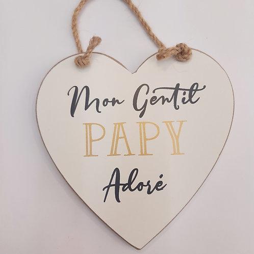 """Coeur en bois """"Papy"""""""