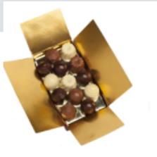 Ballotin de 215 grs de chocolats SANS SUCRE