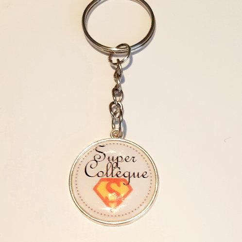 """Porte clé """"Super Collègue"""""""