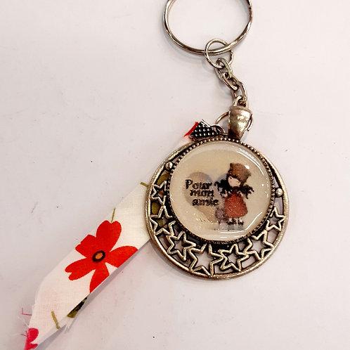"""Porte clé """"Pour mon amie"""""""