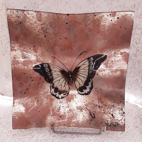 Plat Papillon en verre