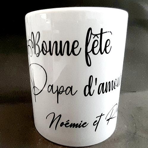 Mug personnalisé : Photo + texte