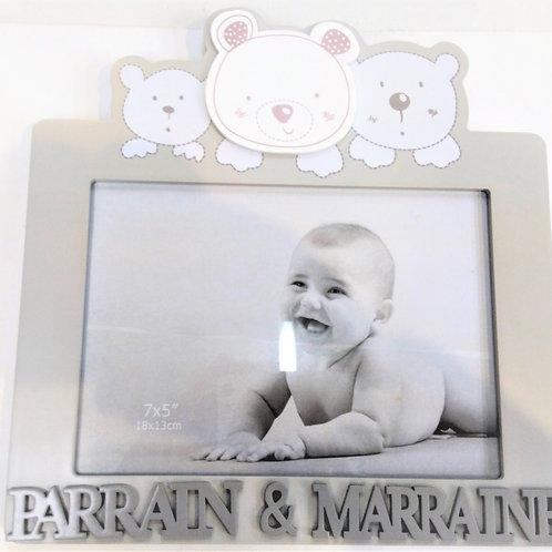 Cadre ourson Marraine & Parrain