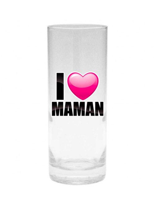 Verre I LOVE Maman