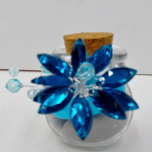 Bocal avec Fleur en diamant turquoise