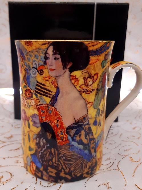 """Mug """" La dame à l'éventail"""" de Klimt"""