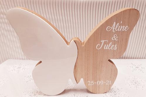 Papillon bois personnalisé