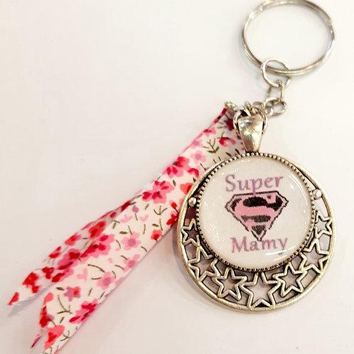 """Porte clé """" Super Mamy"""""""