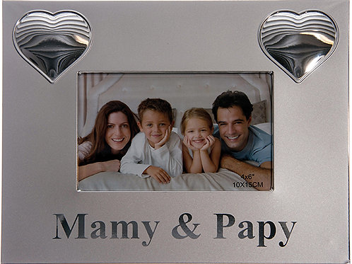 Cadre argent Mamy & Papy