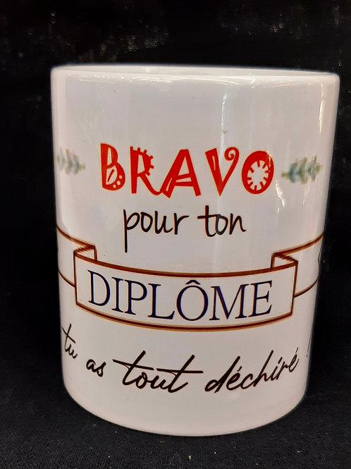 "Mug ""Bravo pour ton Diplome"""