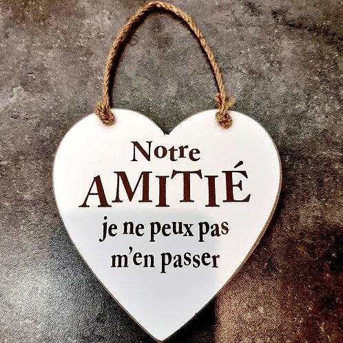 """Coeur en bois """"Amitié"""""""