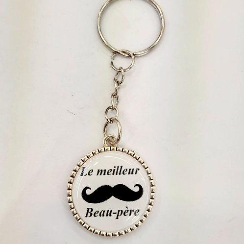 """Porte clé """"meilleur Beau-père"""""""