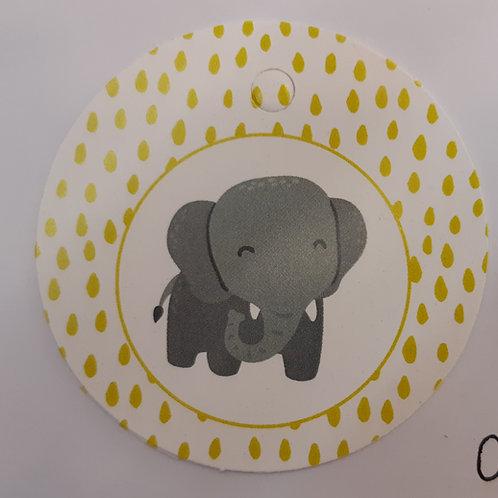 Etiquette Eléphant