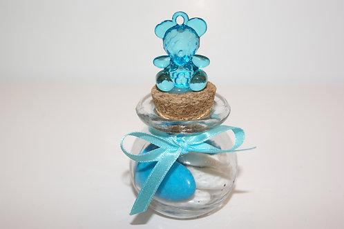 bocal + ourson bleu