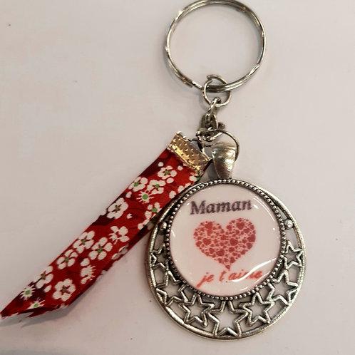 """Porte clé """"Maman je t'aime"""""""