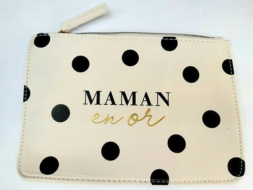 "Pochette maquillage ""Maman en or"""