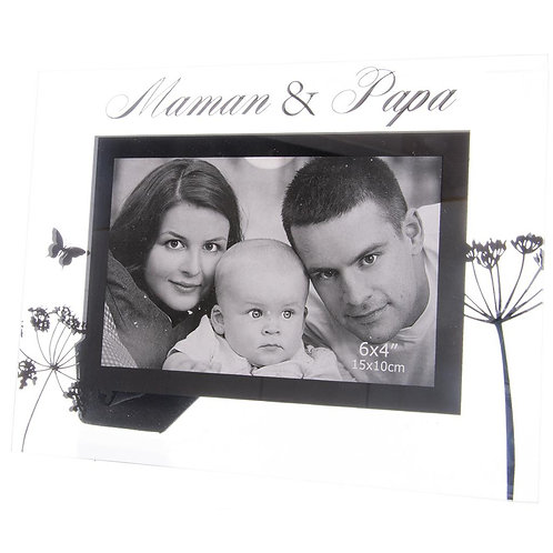 Cadre verre Papa & Maman