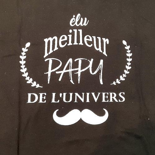 """Tee-shirt """"Elu meilleur Papy de l'Univers"""""""