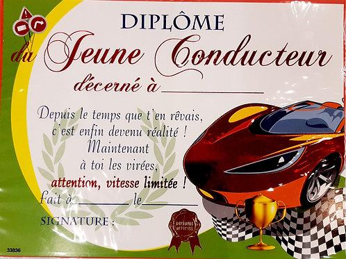 "Diplôme ""jeune conducteur"""