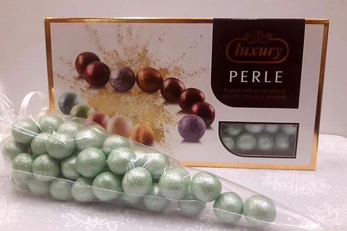 Dragées perle noisette couleur verte