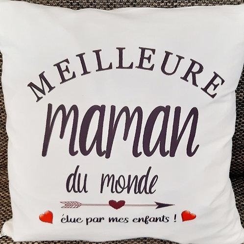 """Coussin """"Meilleure Maman du monde"""""""
