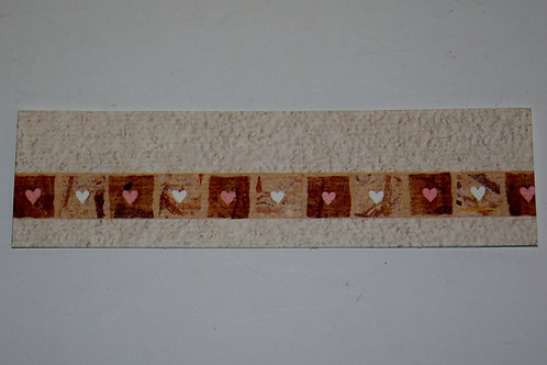 Etiquettes coeur marron