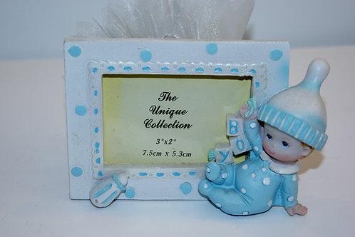 cadre bébé bleu