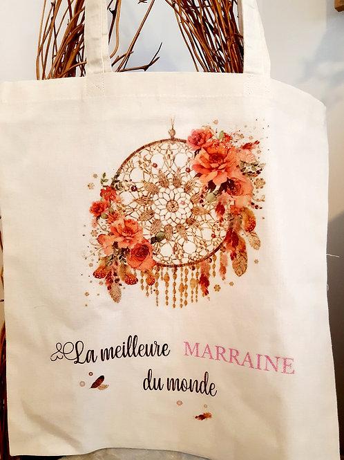 """Tote Bag coton """" Marraine"""""""