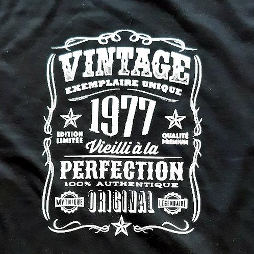 Tee shirt personnalisé Année au choix!