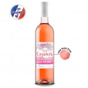 """Bouteille  """" Rosé des copines"""""""