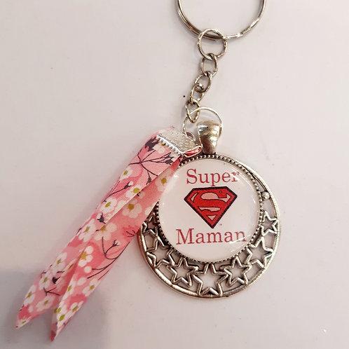 """Porte clé """"Super Maman"""""""
