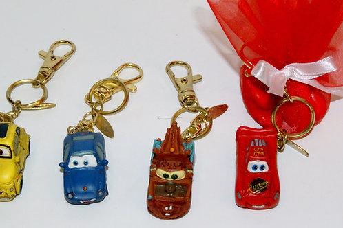 Porte clé CARS lot de 4 assortis