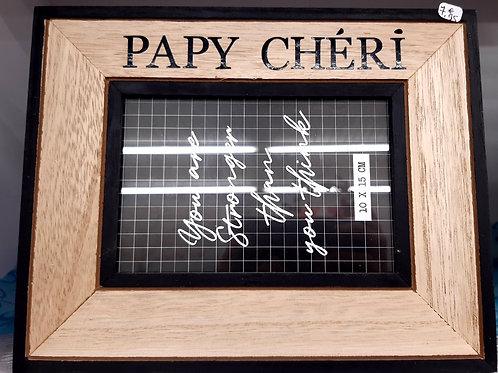 Cadre en bois papy chéri