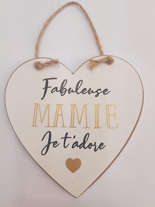 """Coeur en bois """"Mamie"""""""