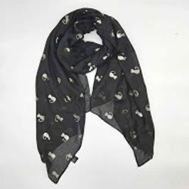 Foulard chat noir