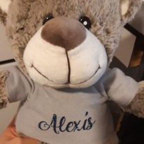 Peluche ourson pull gris