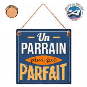"""Plaque en bois """"Parrain"""""""