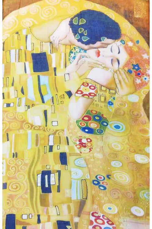 """Echarpe """" Le baiser """" de Klimt"""