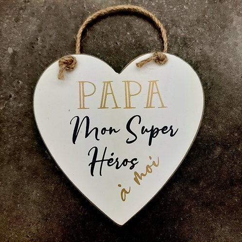 "Coeur en bois ""Papa"""