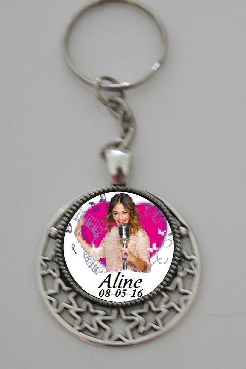 Porte clé personnalisé Violetta n°3
