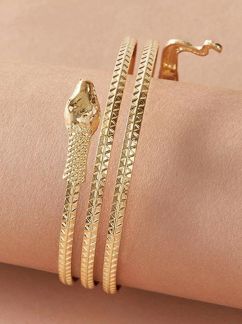 Bracelet serpent dorée