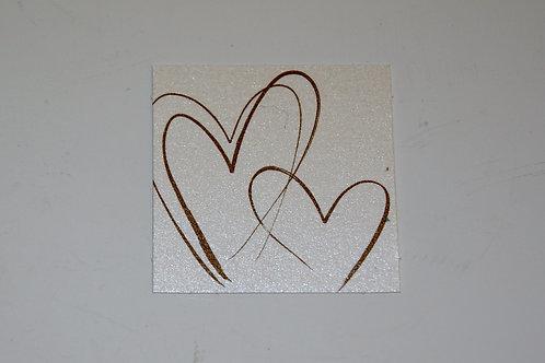 Etiquettes carrés coeur