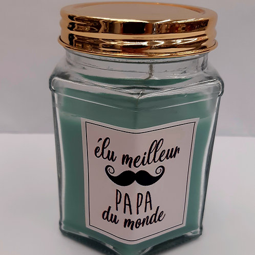 "Bougie parfumée ""Meilleure Papa"""