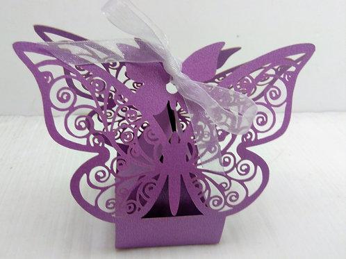 Boite Papillon violet