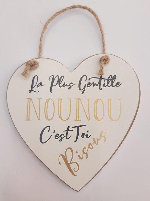 """Coeur en bois """"Nounou"""""""