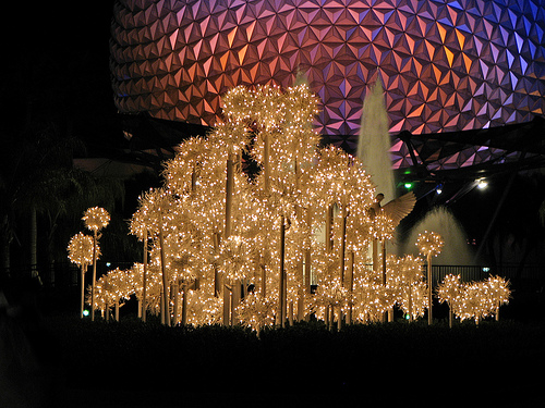 Epcot's Christmas Sparklers