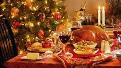 American Christmas dinner
