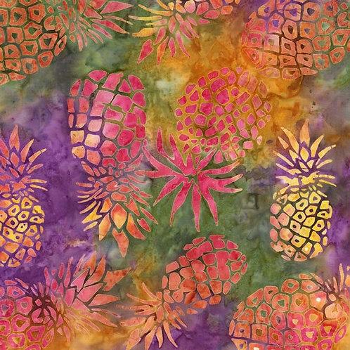 Pineapple Batik Fabric by the Yard