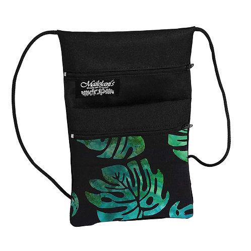 Monstera Batik String Bag