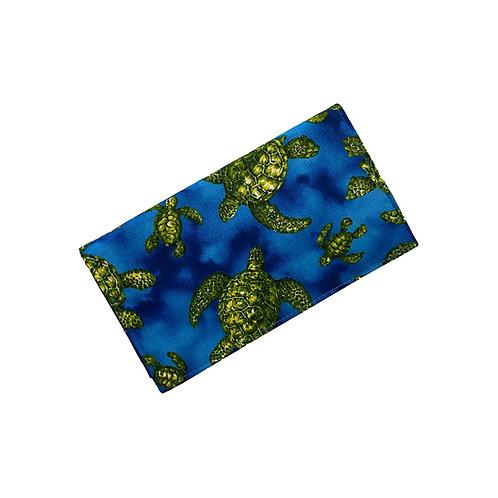 Blue Honu  Checkbook Cover